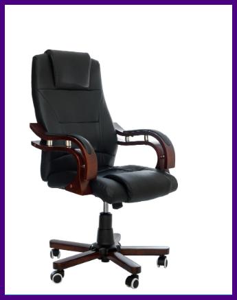"""Офисное компютерное кресло PRESIDENT Pemium Черное""""""""ПОЛЬША"""