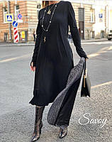 Платье креп,миди,длинный рукав,под пояс,42-46