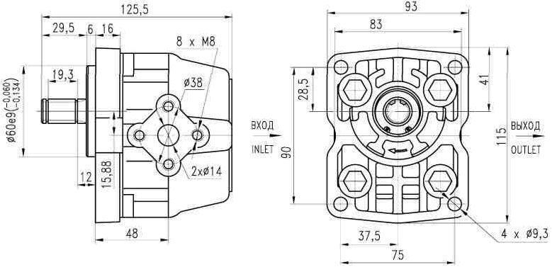 Насос шестерний НШ 6Д-3 для трактора Т-150, Т-150-05, Т-150Д (бульдозер) Гідросила