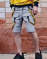Шорты карго мужские Пушка Огонь Scarstrope серые, фото 1