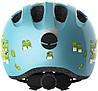 Велосипедний дитячий шолом ABUS SMILEY 2.0 M 50-55 Blue Croco, фото 2