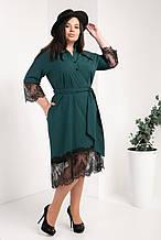 Платье-рубашка мод №745-4, размер 50,52,54 бутылка