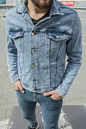 Мужская джинсовая куртка (голубая)