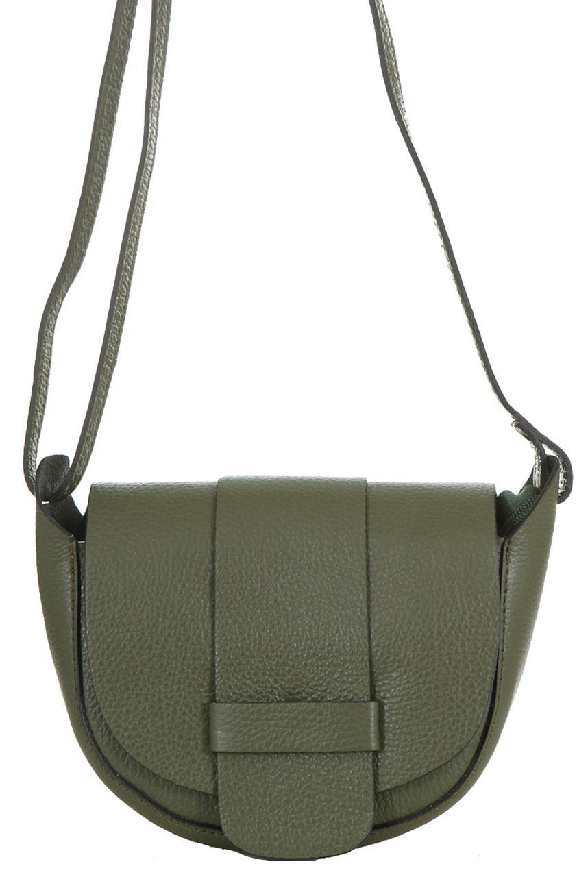 Оливковая женская сумка-мессенджер COLINE Diva's Bag кожаная 19 см х 15 см х 7 см