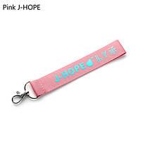 Брелок BTS лента розовая J-Hope