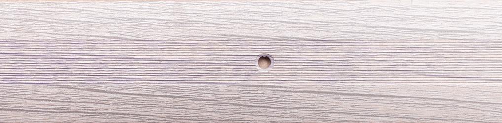 Порог алюминиевый 6А 0,9 метра дуб беленый 5х30мм скрытое крепление