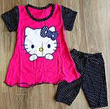 Дитячий костюм футболка і шорти Кітті, фото 2