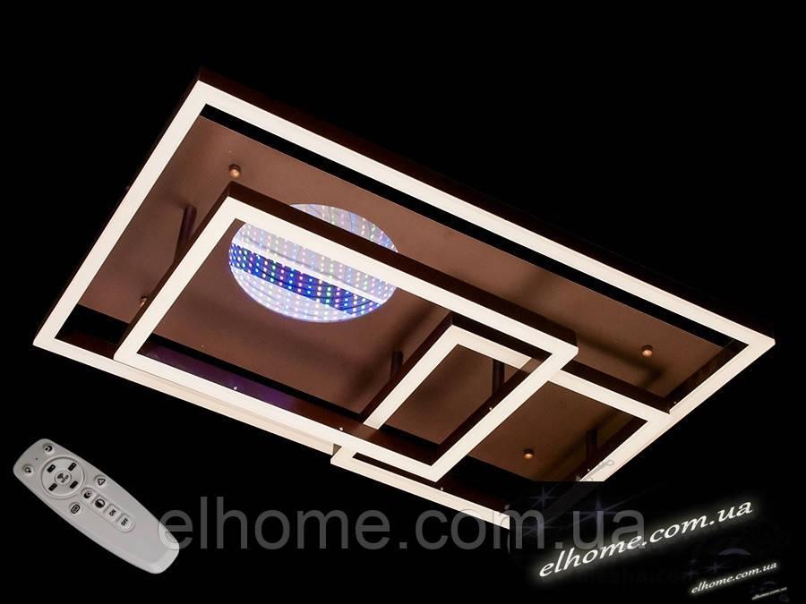 Стельова LED-люстра з диммером і підсвічуванням 125W