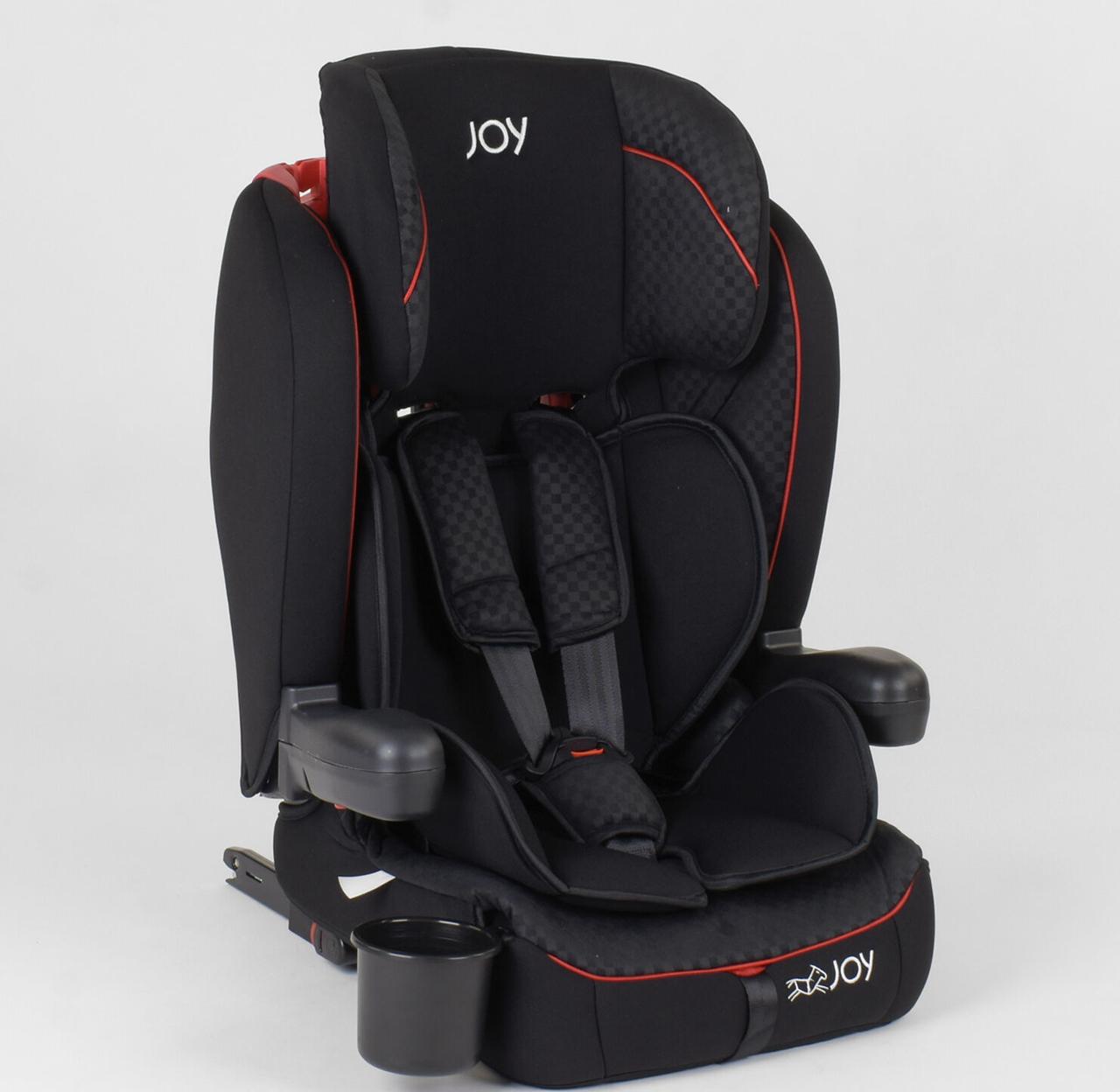 Дитяче автокрісло JOY ISOFIX 88235 (9-36 кг) чорне