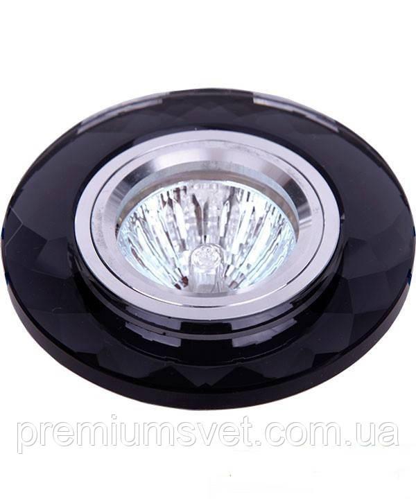 Скляний вбудований світильник точковий 705058 чорний