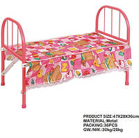 Ліжечко для ляльки 3889 метал. кроватка. pro