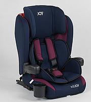 Детское автокресло JOY ISOFIX 72583 (9-36 кг) синие с бордовым