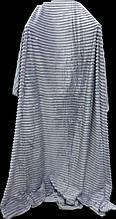 Плед покрывало полоска флисовый Тм Koloko 160*210 серый