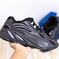 Адидас Изи Буст 700 Мужские кроссовки черные для бега Adidas Yeezy Boost 700
