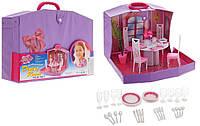 Домик для Барби 94011 Gloria столовая,в чемоданчике, для ляльки. pro
