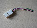 Колодка Фишка разъем проводки универсальная на 2 контакт стандарт 6мм папа вилка с проводами 90мм пара К03, фото 3
