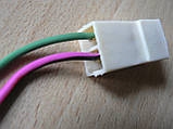 Колодка Фишка разъем проводки универсальная на 2 контакт стандарт 6мм папа вилка с проводами 90мм пара К03, фото 2