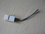 Колодка Фишка разъем проводки универсальная на 2 контакт стандарт 6мм папа вилка с проводами 90мм пара К03, фото 4