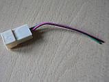 Колодка Фишка разъем проводки универсальная на 2 контакт стандарт 6мм папа вилка с проводами 90мм пара К03, фото 6