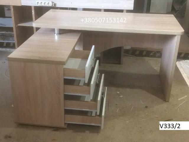 Письменный стол V333/2 с левосторонней тумбой