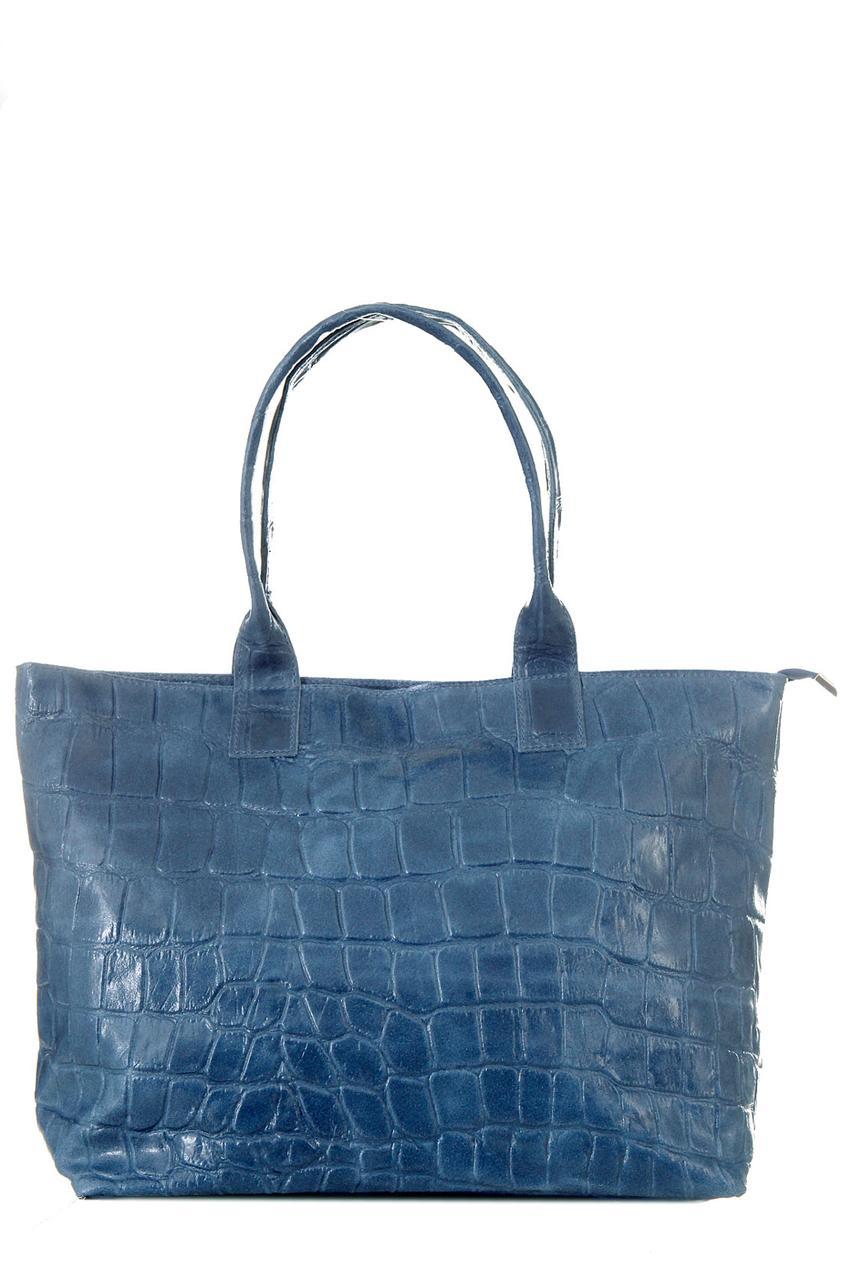 Женская кожаная сумка VAULA Diva's Bag цвет синий