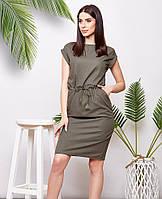 Платье миди женское льняное летнее стильное Amber 44, 46, 48, 50, 52-54, 56-58, 60-62