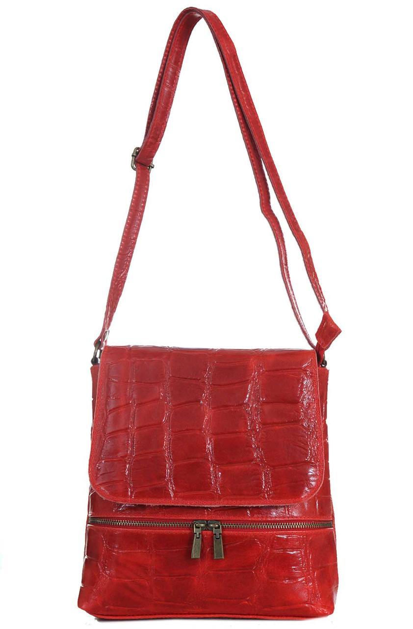 Жіноча шкіряна сумка VANNA diva's Bag колір червоний