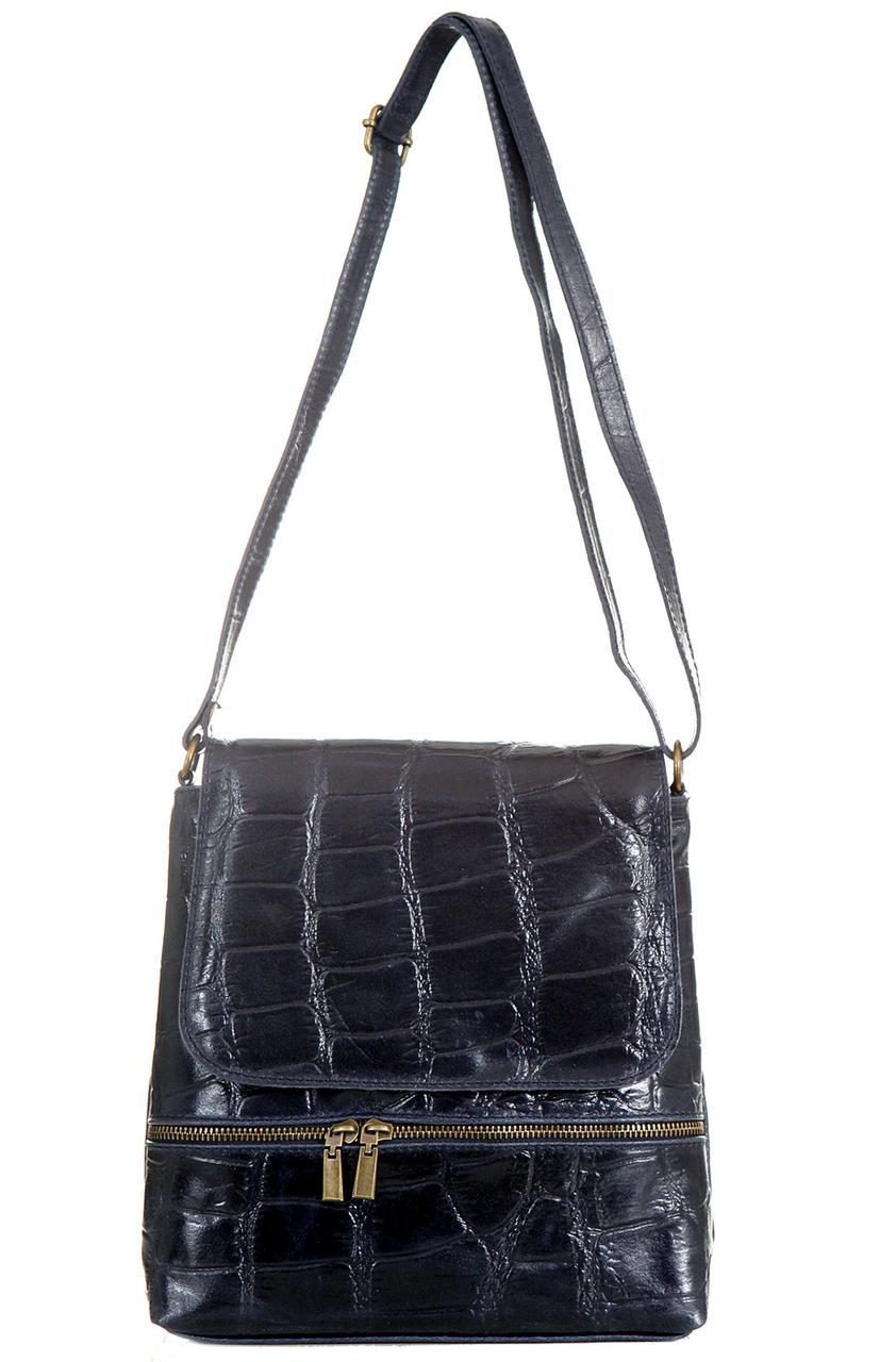 Женская кожаная сумка VANNA Diva's Bag цвет темно-синий