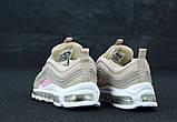 Женские кроссовки Nike Air Max 97 в стиле найк аир макс бежевые (Реплика ААА+), фото 2