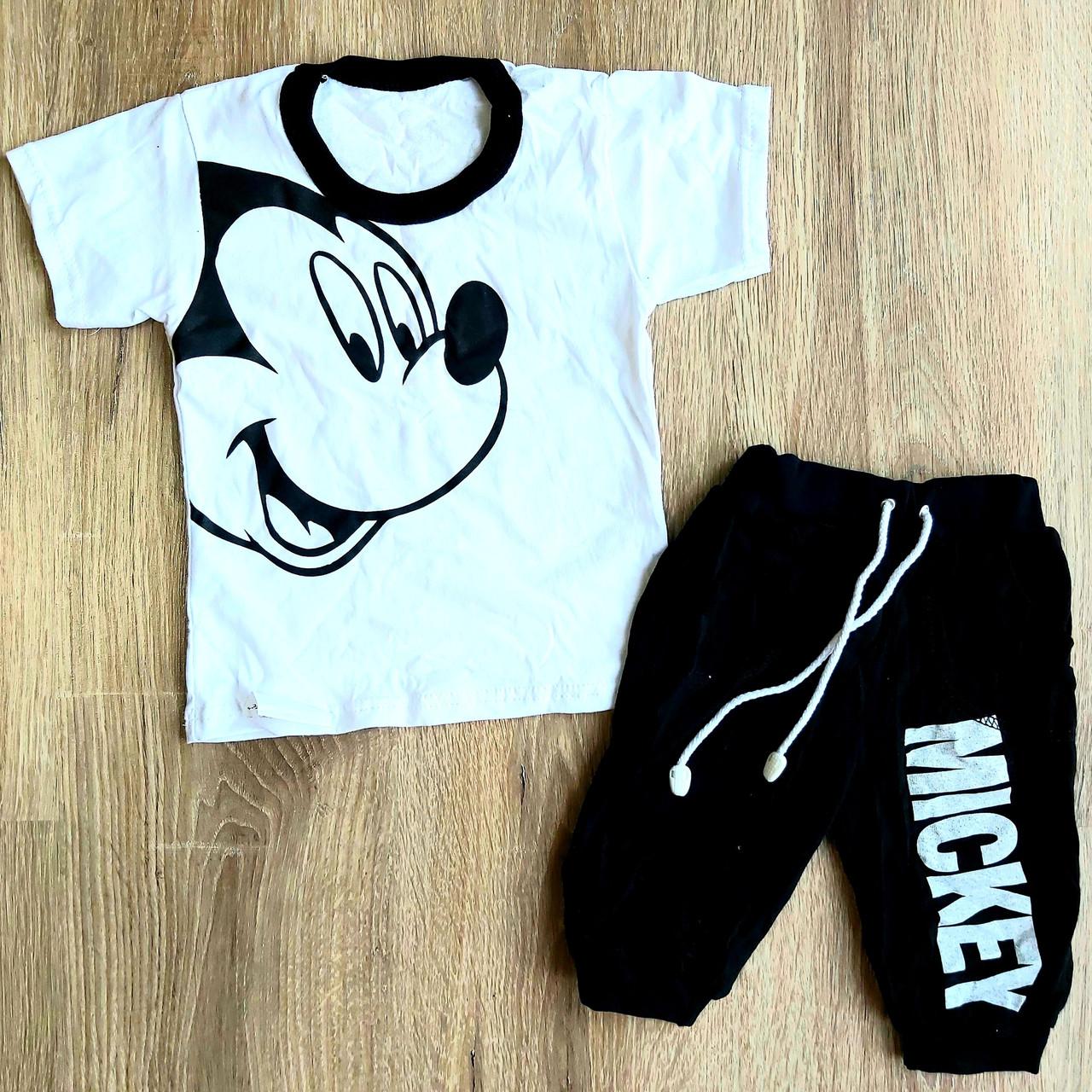 Детский летний костюм футболка и бриджи MICKEY