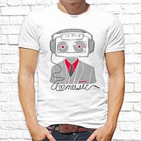 Мужская футболка с надписью. Прикольные футболки с принтами