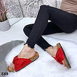 Женские шлепанцы с бантом, платформа 3 см, пудра, черные, красные, желтые, леопардовые, фото 7