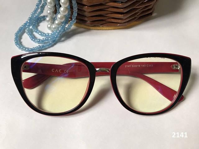 Компьютерные очки 2141 черные/красные