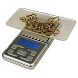 Весы карманные, ювелирные pocket scale mh-100, 100 г, шаг - 0,01 г, фото 2