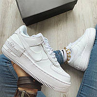 ✔️ Кроссовки женские Nike Air Force 1 Low Shadow White - Найк Аир Форс Низкие Белые