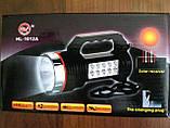 Фонарь + лампа аккумуляторный от сети и от солнца, фото 3