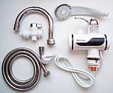 Мгновенный проточный водонагреватель Delimano с душем и дисплеем (Нижнее подключение), фото 2