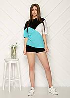 Модный женский спортивный костюм с шортами