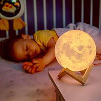 Ночник светильник Земля Earth 3D Moon Lamp 18 см на подставке, фото 2
