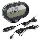 Автомобильные часы с термометром и вольтметром VST 7009V, фото 5