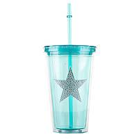 "Стакан с крышкой и трубочкой ""Turquoise star"" (580 мл.), фото 1"