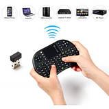 UKB-500-RF 2.4 ГГц мини беспроводная клавиатура со светодиодным индикатором, тачпадом, фото 7