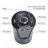 Автомобильный FM трансмиттер модулятор H26+ВТ с Bluetooth MP3, фото 4