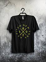 Футболка чёрная - New York/Нью Йорк, Удобная футболка, Спортивная футболка, Унисекс, Футболки для полных!!