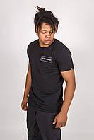 Мужская черная футболка, фото 1