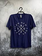 Футболка синяя - New York/Нью Йорк, Удобная футболка, Спортивная футболка, Унисекс, Футболки для полных!!