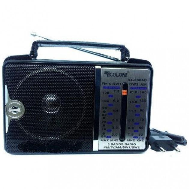 Всехвильовий радіоприймач Golon RX-606ACW, AM/FM/TV/SW1-2, 5-ти хвильовий