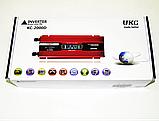 Преобразователь тока AC/DC с LCD дисплеем UKC 2000W KC-2000D / Автомобильный инвертор 2000W, фото 8