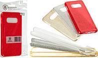 Накладка силиконовая BASEUS GLITTER 3in1 Xiaomi Redmi Note 6 Pro (красный)