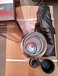 Термос металлический UN-1004, 1 л с чехлом, фото 5